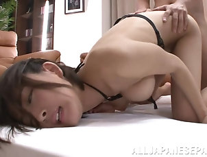 Asian,Japanese,Bikini,Natural Tits,Couple,Hardcore,Doggystyle Striking Sayuki Kanno Gets Fucked...