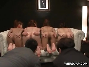 Amateur,Asian,Group Sex,Hardcore,Japanese,Orgy Naked asian sex slaves getting ass...