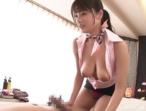 Japanese,Cumshot,Close Up Suhara Nozomi adores giving tit job...