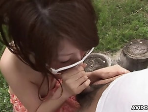 36::Couple,75::Brunette,96::Asian,115::Blowjob,131::Hairy,803::Japanese,809::Outdoor,7706::HD,15462::Natural Tits,17013::Babe,66.66666412353516 Sexy brunette babe Aya sucks a hairy...