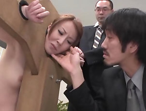 Slave,Office,Toys,Asian,MILF,Japanese Ass Play Gives Reiko Sawamura High...