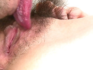Couple,Asian,Pussy,Hairy,Licking,Close Up Asian brunette gets her pussy pounded...