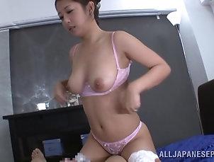 Couple,Hardcore,Asian,Japanese,POV Satomi Suzuki enjoys fucking in POV...