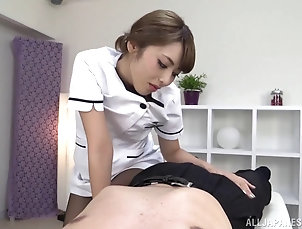 Hardcore,Asian,Japanese,Nurses,Uniform,Pantyhose,Nylon He lays back and relaxes while Ayu...