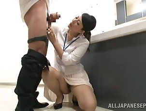 Asian,Couple,Office,Reality,Japanese Sexy girl in an office suit enjoys...