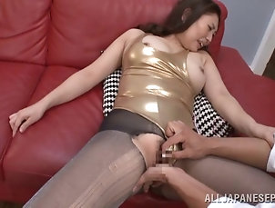 Asian,Japanese,Hardcore,Couple,Natural Tits,Big Tits,Missionary,Leather,Pantyhose,Nylon,MILF,Cougars Japanese mom lets a guy finger her...