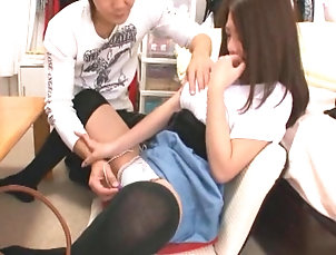Hardcore,Couple,Japanese,Natural Tits Natural tits Asian dame bending over...