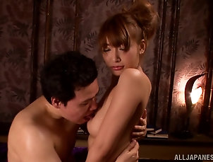 Threesome,MMF,Hardcore,Asian,Japanese,Bra,Panties,Stockings,Fishnet,Foot Fetish Splendid Asuka Kirara Has A Wild...