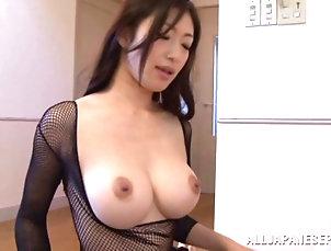 Cumshot,Hardcore,Amateur,Asian,Japanese,Lingerie,Fishnet Gorgeous Asian babe Reiko is acting...