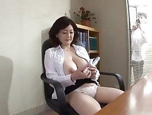 Asian;Sex Toys;Masturbation;Japanese;MILFs Japanese school director masturbates...