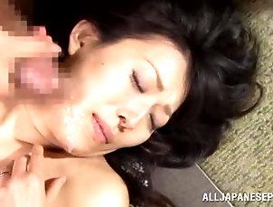 Asian,Blowjob,Brunettes,Gangbang,Hardcore,MILF,Japanese Busty Japanese milf gets punished by...