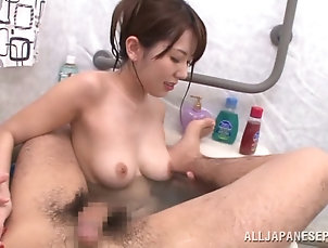 Asian,Japanese,Bath,Natural Tits,Hardcore Yui Hatano gets in the tub with a guy...