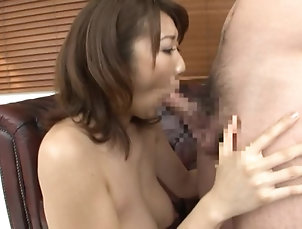 Asian,Big Tits,Japanese,Natural Tits,MILF Playful Asian MILF Anna Hoshi Sucks...