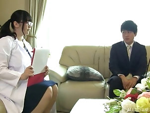 Couple,Hardcore,Asian,Japanese,Chubby,Uniform,Nurses,Glasses Hugely curvy Japanese babe in glasses...