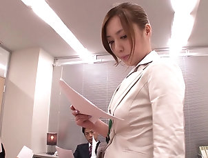 POV,Couple,Hardcore,Asian,Japanese,Reality,Office This pretty Asian secretary gets on...