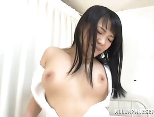 Asian,Babes,Couple,Fingering,Hardcore,Japanese,Natural Tits,Nurses,Nylon,Panties,Stockings Playful nurse is being taken care of...