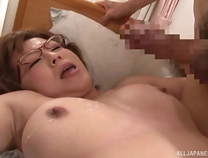 Couple,Japanese,Glasses,MILF Brunette Japanese MILF with glasses...