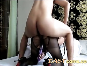 asian;amateur;blowjobs;milf;couple;doggy-style;lingerie;pantyhose;fetish;sexy Asian milf clad in sexy lingerie gets...