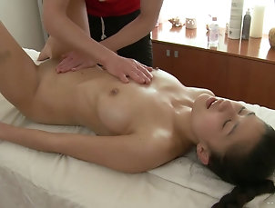 Hardcore,Couple,Asian,Massage,Oiled,Fingering,Nice Ass A cute girl with a long beautiful...