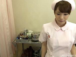Couple,Japanese,Uniform,Nurses Asian nurse Airi Suzumura jerks a...