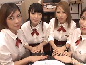 Group Sex,Japanese,POV Dick craving Japanese women want to...