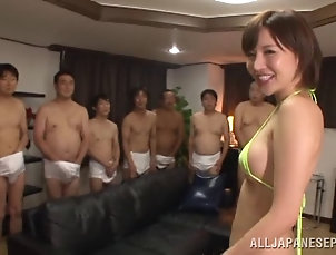 Hardcore,Asian,Japanese,Gangbang,Foot Fetish,Bikini Yuria Satomi gets her bikini stripped...