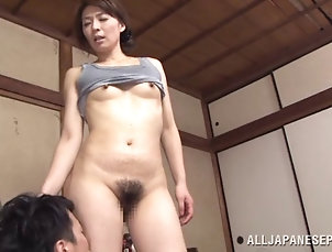 Mature,Asian,Japanese Sex after breakfast with her hugely...