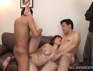 Hardcore,Asian,Japanese,Gangbang,Miniskirt Sexy Asian lady gets gangbanged hard...