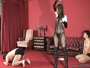 Asian;BDSM;Handjobs;Japanese;Slave;Slave Femdom;Slave Handjob;Japanese Femdom;337799 Japanese Femdom Aya Kisaki handjob slave