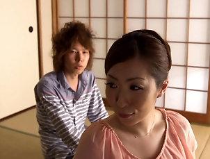 Couple,Hardcore,Asian,Japanese,MILF,Fingering Lovely Japanese milf enjoys getting...