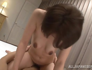 Asian,Japanese,Natural Tits,Brunettes Japanese hottie jumps on a prick...