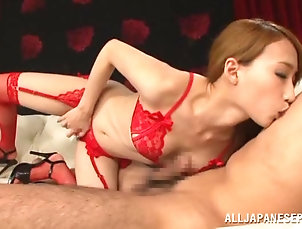Couple,Hardcore,Amateur,Asian,Japanese,Lingerie Claire Hasumi gets her vag licked and...