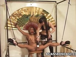 adult-toys,asiansbondage,bdsm,blonde,bondage,bound,dildo,fetish,japanese,jav,lesbian,nipple-clamps,tied,vibrator,Fetish Japanese brunette tormented by a...