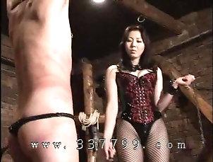 BDSM;Japanese;Mistress;Slave;Whipping;Mistress Land;Mistress Whips;Slave Whip;Whip;Japanese Mistress Japanese mistress MAO whips a slave...