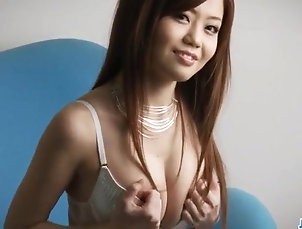 Japanese Nao shows off her nasty side while...