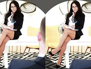 Asian;Masturbation;POV;Small Tits;Dildo;VR Bangers;HD Videos;Big Dildo VR BANGERS-Morgan Lee Masturbate with...