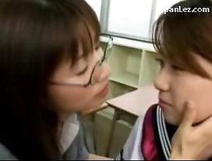 Asian;Lesbian;Japanese,Asian,Japanese,Lesbian Schoolgirl In Uniform Kissing...