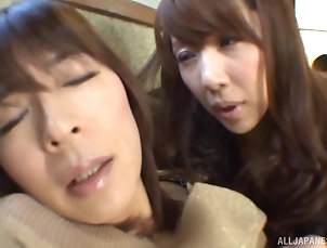 Lesbian,Japanese,Public fingering in public restaurant is...