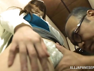 Couple,Hardcore,Amateur,Asian,Japanese,Blowjob,Clothed Sex Age is nothing to this Japanese couple