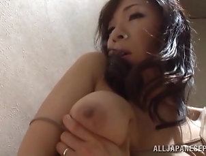 Natural Tits,Asian,Japanese,Solo Models,Fingering Ruri Saijo moans with pleasure while...