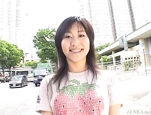 Asian,Japanese,Public Subtitled Japanese AV star stripped...