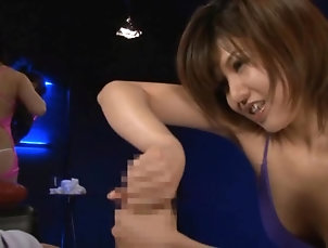 Asian,Cumshot,Japanese,Cum In Mouth,Swallow,Facial Lovely Asian Giving a Great Handjob