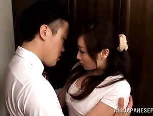 Couple,Hardcore,Asian,Japanese,Licking,Brunettes,Bra Yuu Kawakami gets her Japanese pussy...