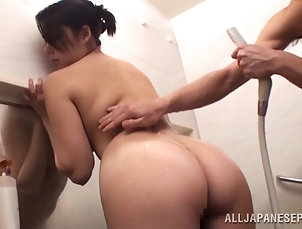 Asian,Bath,Brunettes,Couple,Japanese,Nice Ass,Shower Japanese Marika Tsutsui Giving a...