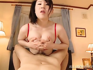 Reality,Couple,Hardcore,POV,Asian,Japanese,Handjob,Stockings,Natural Tits,Big Tits Busty Japanese tart gives a blowjob...