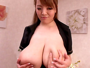 Big tits,Natural tits,Japanese,Pornstar,Brunette,Kissing,Titjob,Blowjob,Cum in mouth,Straight Mind blowing titjob along Japanese...