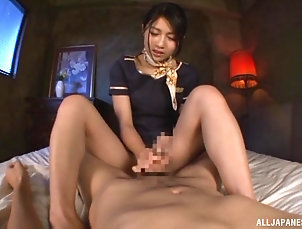 Couple,POV,Japanese Saionji Reo uses her beautiful feet...