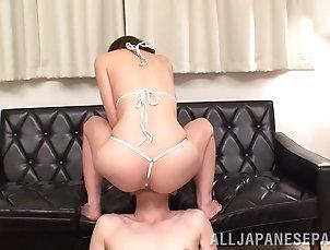 Couple,Hardcore,Asian,Japanese,Bikini,Nice Ass,Licking Erotic Asian dame with nice ass in...
