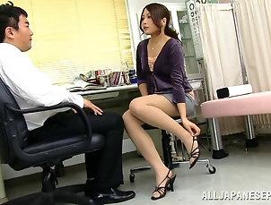 Reality,Couple,Hardcore,Asian,Japanese,Office,Miniskirt Beautiful Japanese bimbo in miniskirt...
