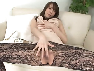 Japanese,Pantyhose,Solo Models,Masturbation Babe in sexy pantyhose loves showing...